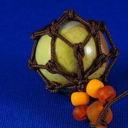 画像2: 【工房 花時】浮き球ストラップ やちむん A905