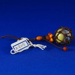 画像1: 【工房 花時】浮き球ストラップ やちむん A905