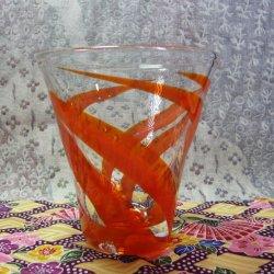 画像1: 【やんばるガラス工芸館】 デザートグラス オレンジ系